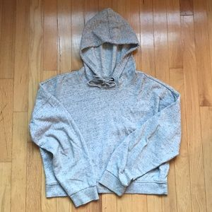 Cropped heather gray hoodie